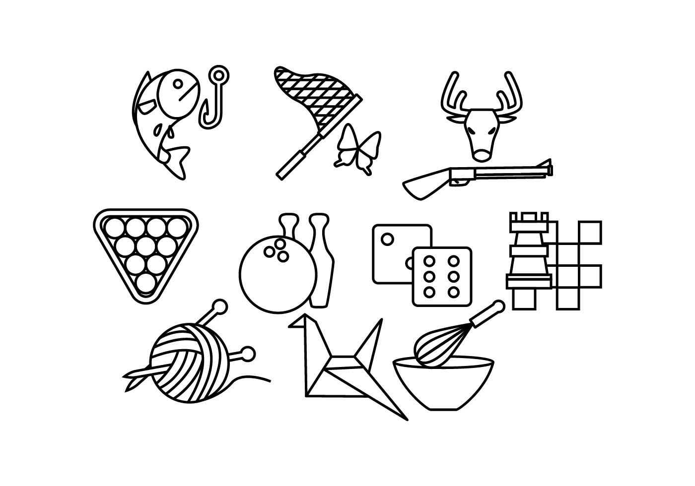 Free Hobbies Line Icon Vector