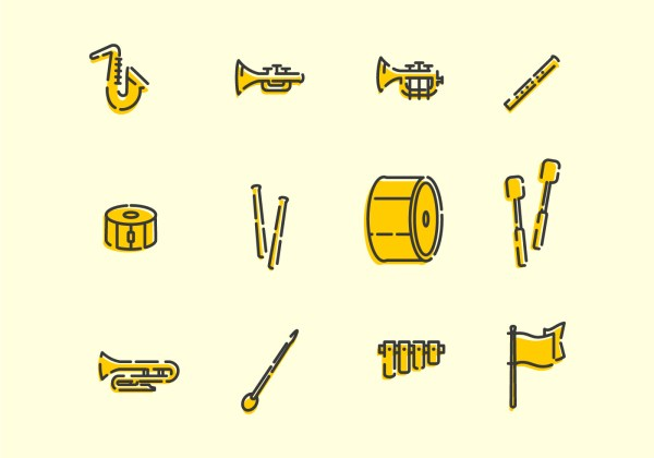 Marching Band Tools - Download Free Vector Art, Stock ...