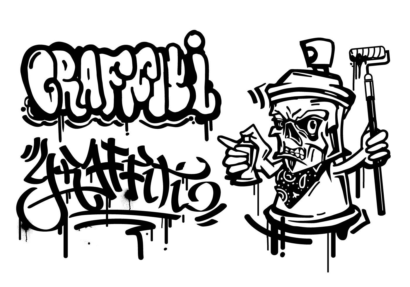 Graffiti Cartoon Character