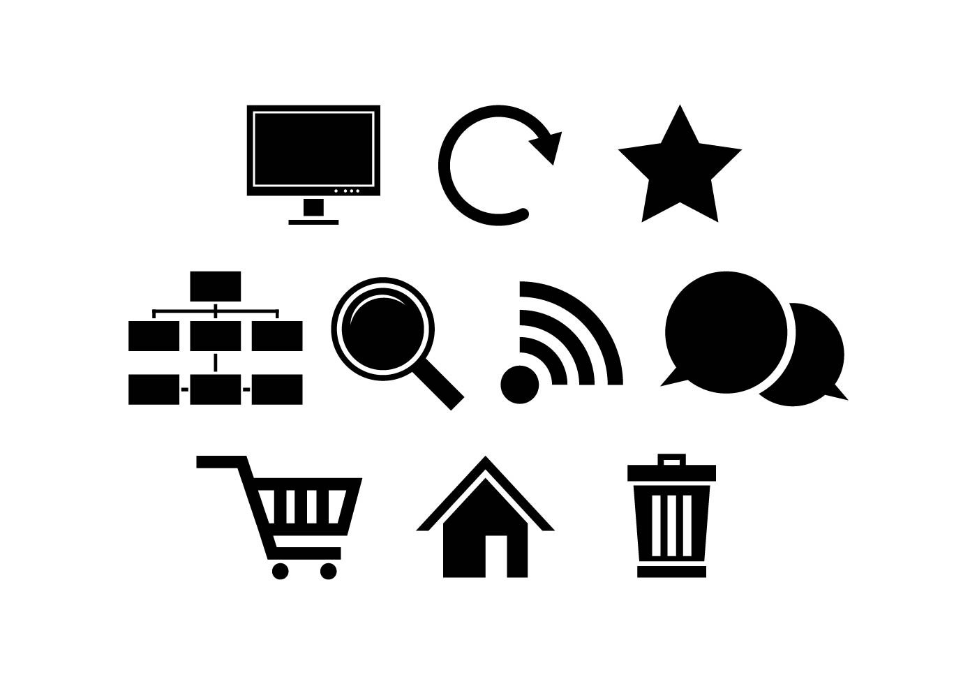 Free Internet Silhouette Icon Vector