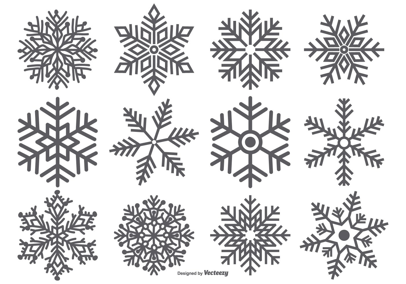 Snowflake Vector Shape Collection