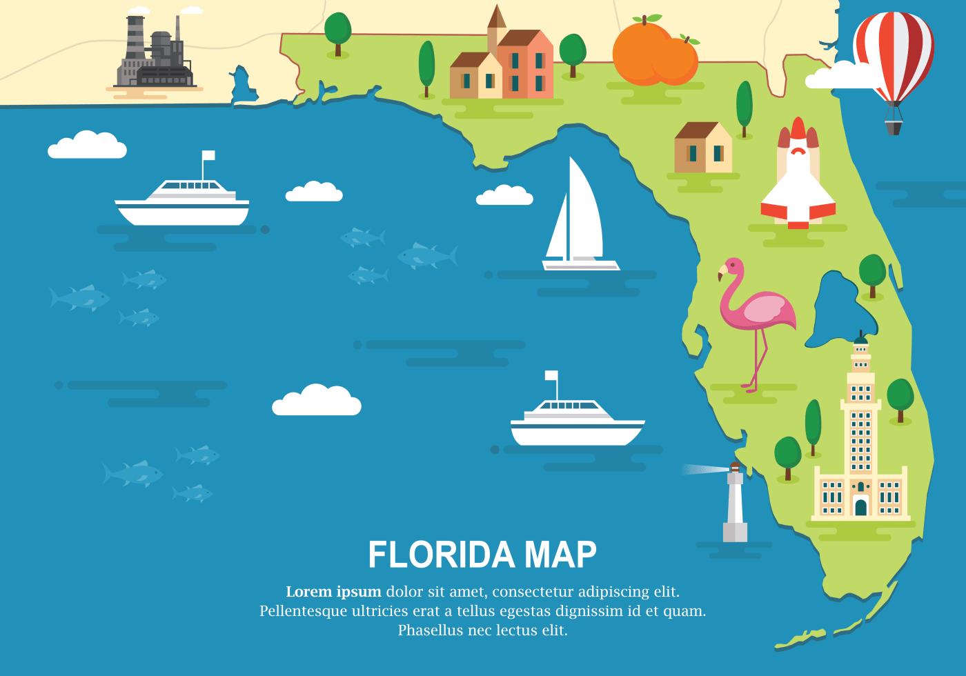 Florida Map Vector Illustration
