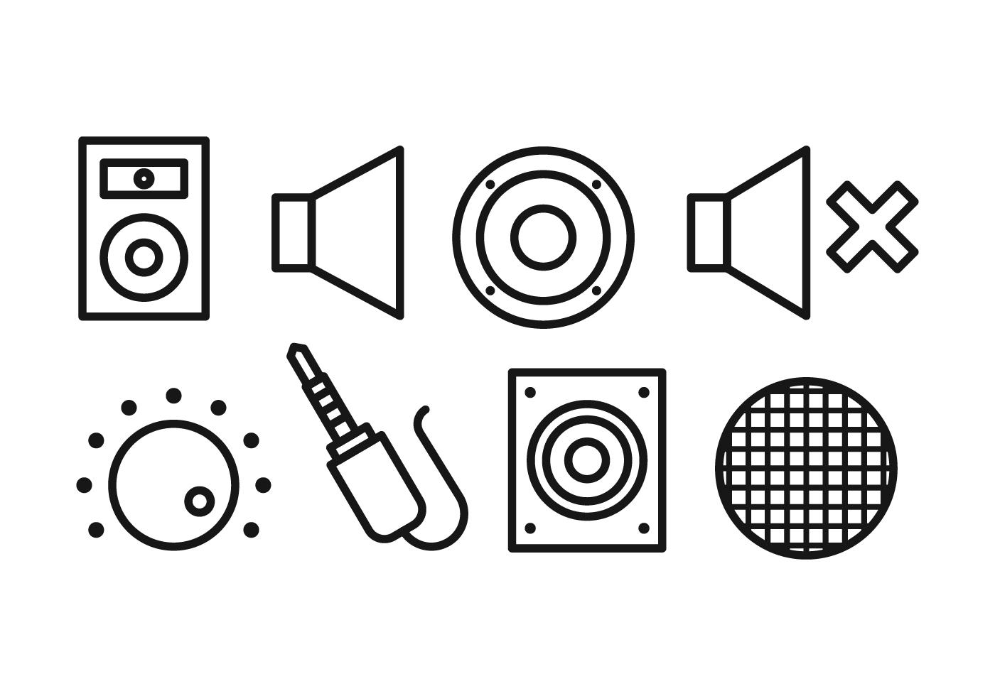 Lautsprecher Icon Set