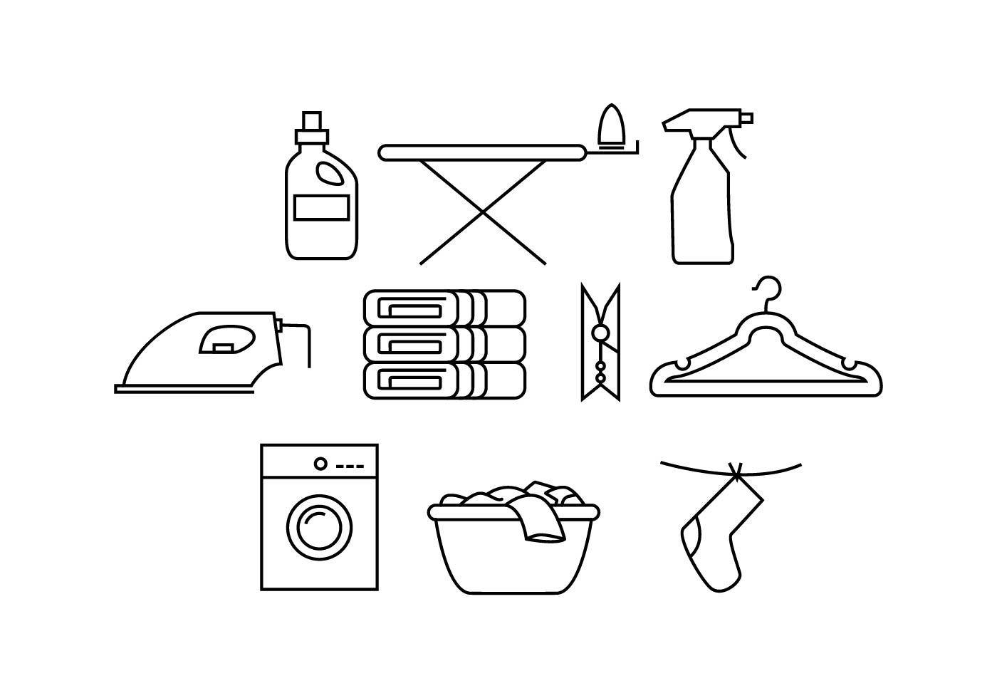 Free Laundry Line Icon Vector