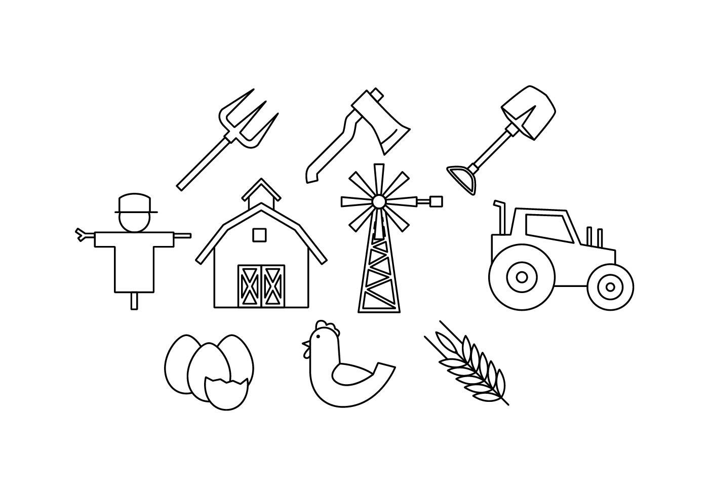 Free Farm Line Icon Vector
