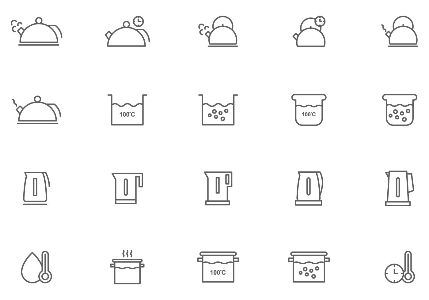 Free Boiling Water Vectors