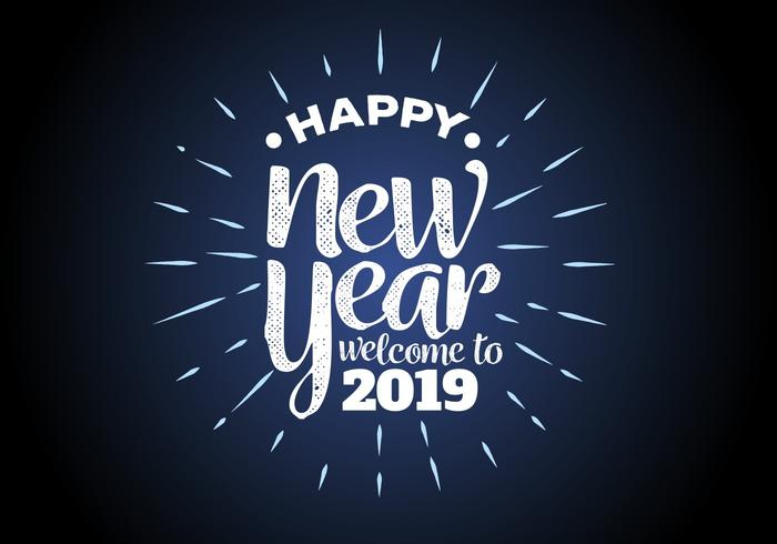 Happy New Year 2019 Background Vector Illustration   Download Free     Happy New Year 2019 Background Vector Illustration