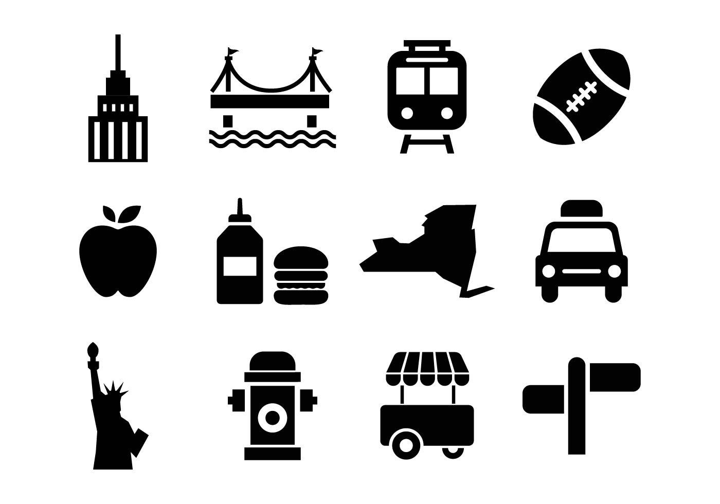 Free New York Icons Vector