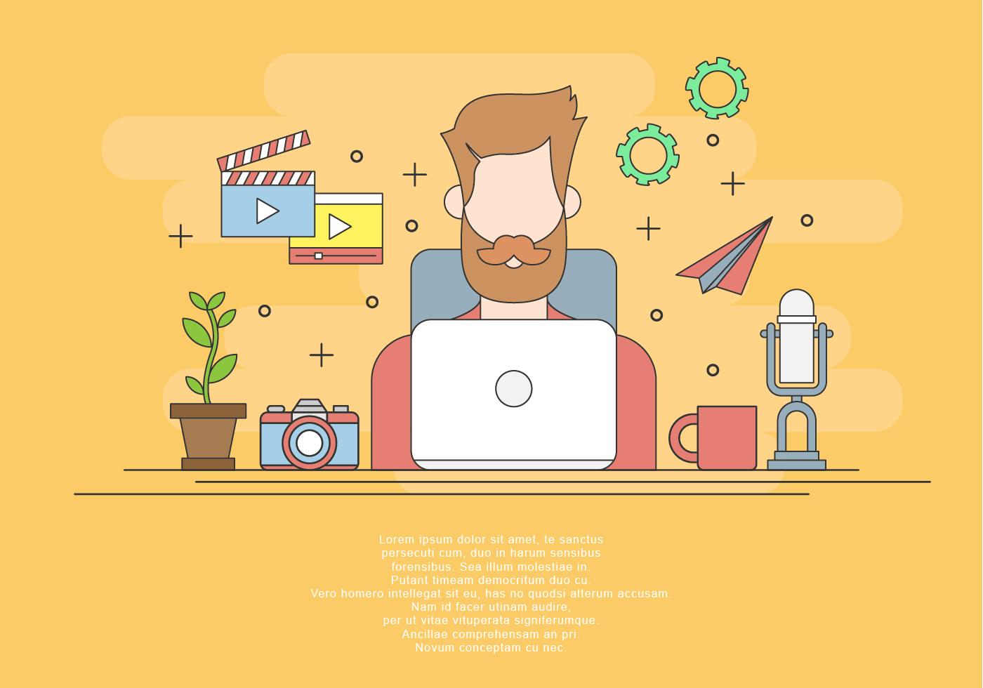 Content Creator Free Vector Art 76 Free Downloads