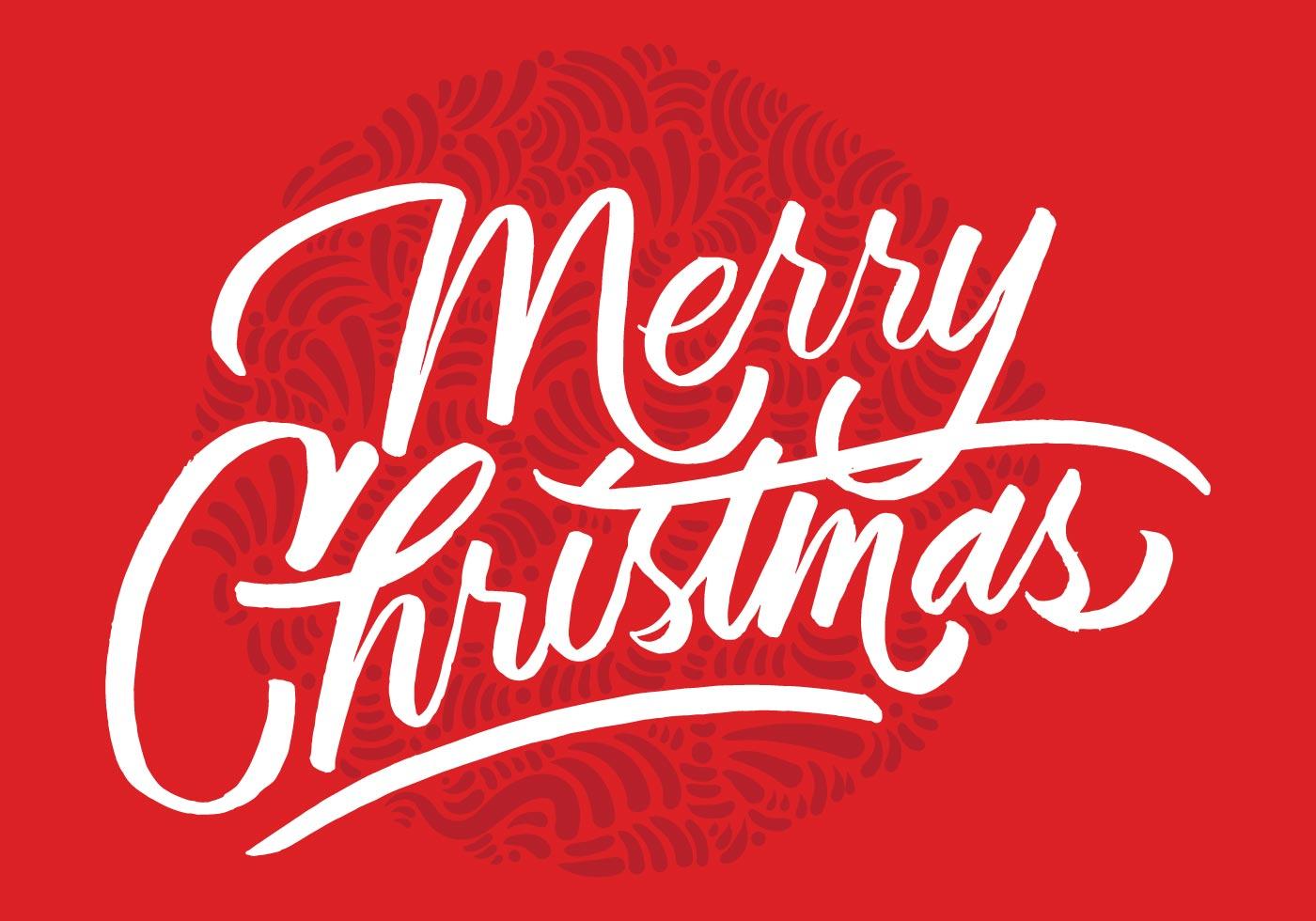 Merry Christmas Brush Script Vector Download Free Vector