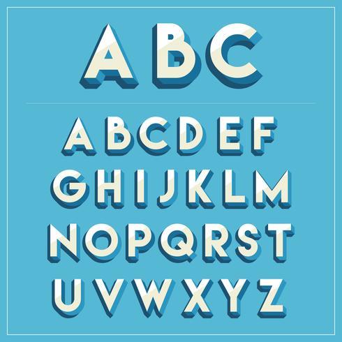 Download 3D Fonts Vector Pack - Download Free Vectors, Clipart ...