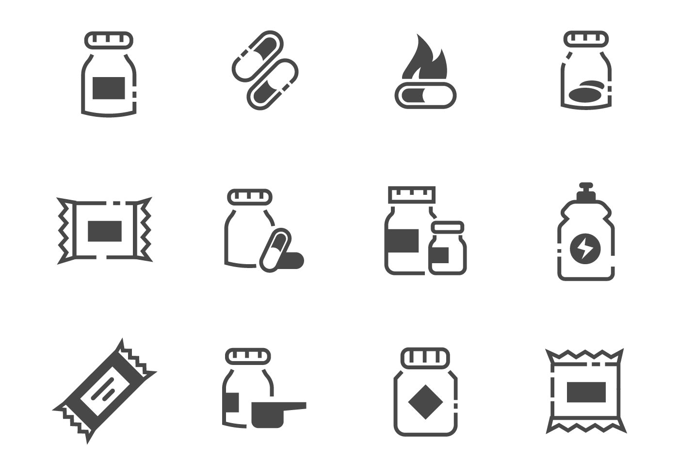 Free Supplements Icons Vector