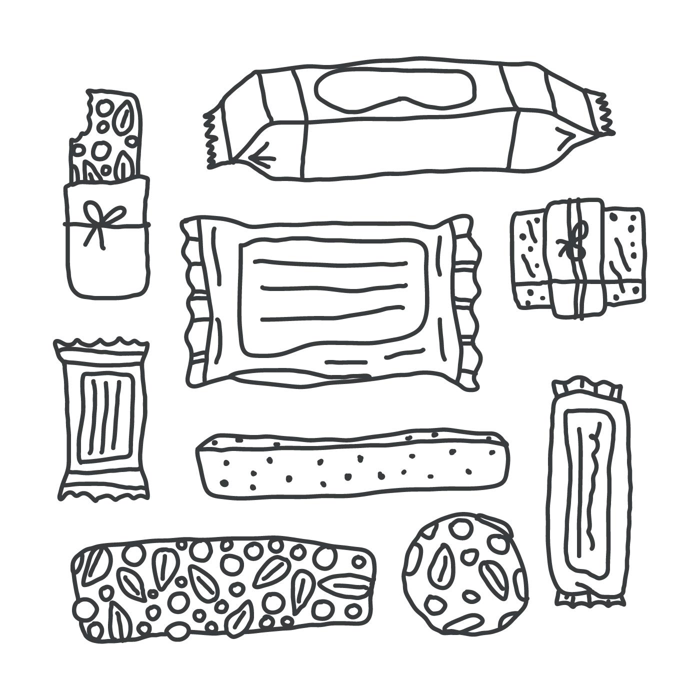 Granola Bars Drawings