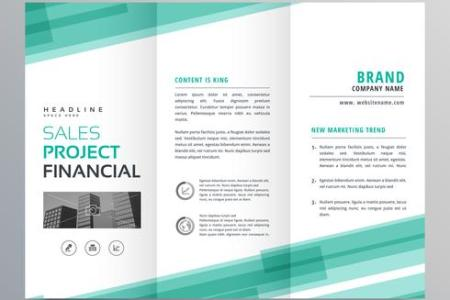 abstract green trifold template brochure design   Download Free     abstract green trifold template brochure design