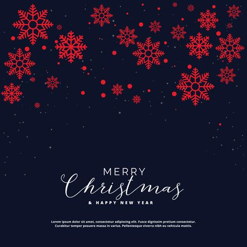 Elegant Christmas Snowflakes Greeting Background Design