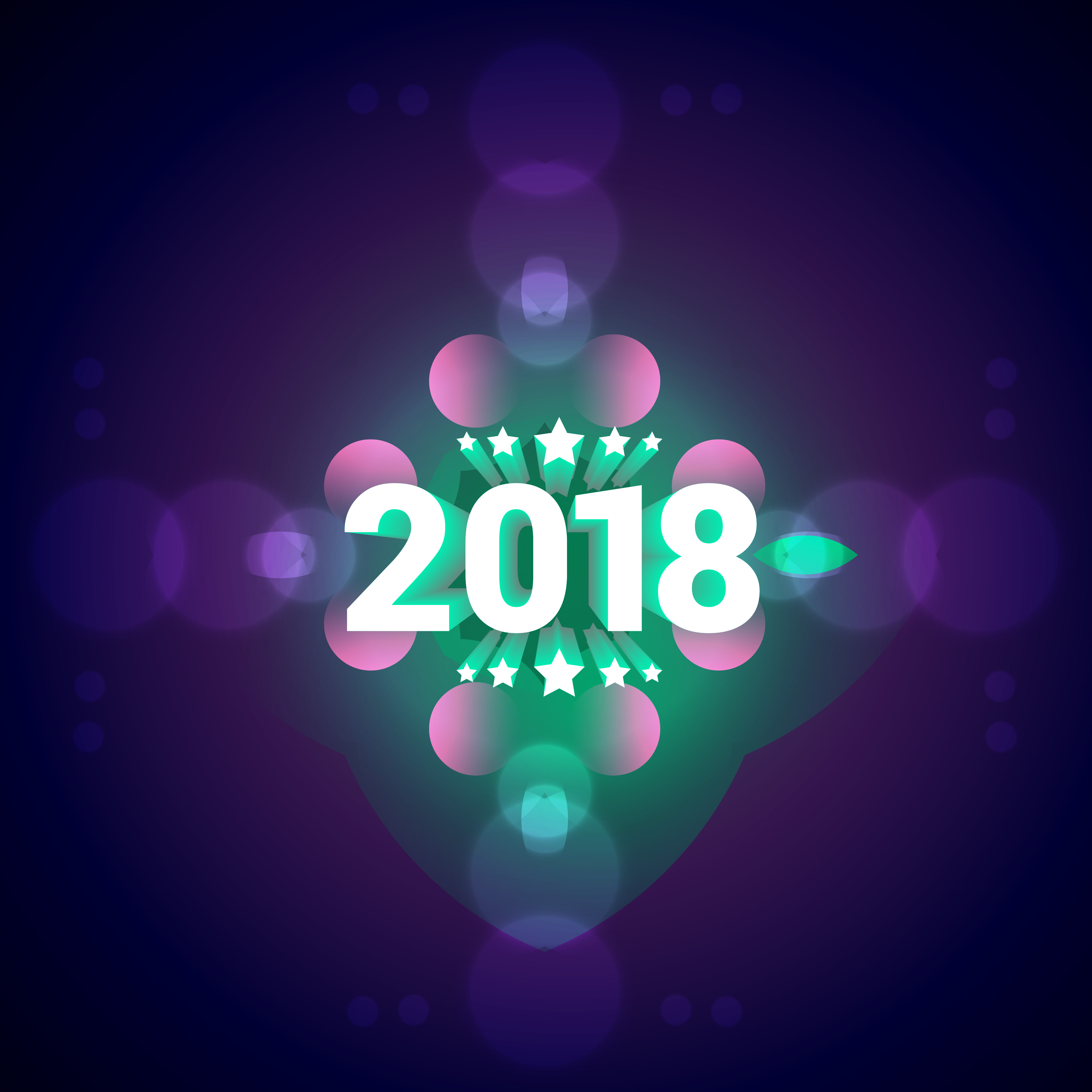 Elegant Happy New Year Colorful Background