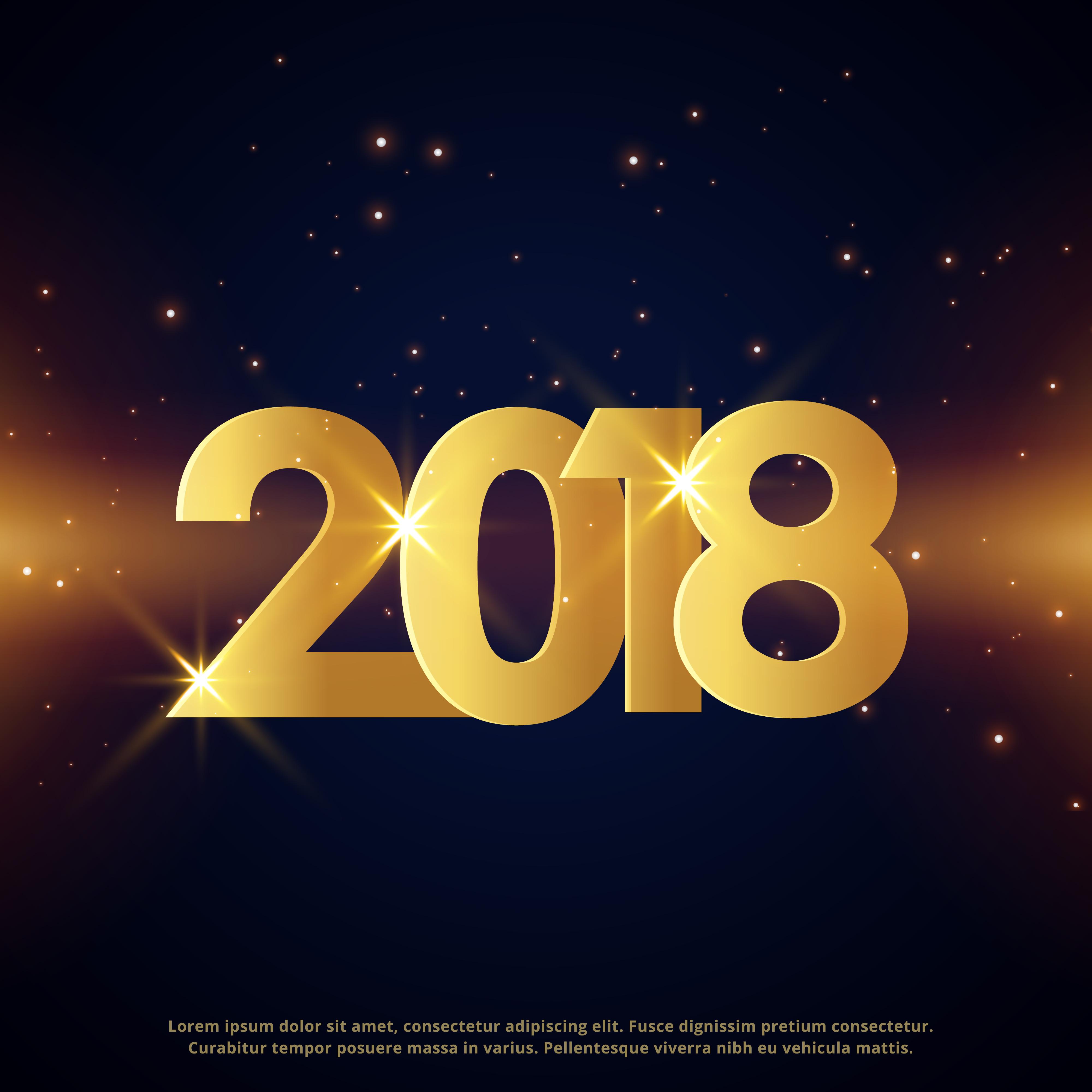 Premium Happy New Year Greeting Card Golden Design