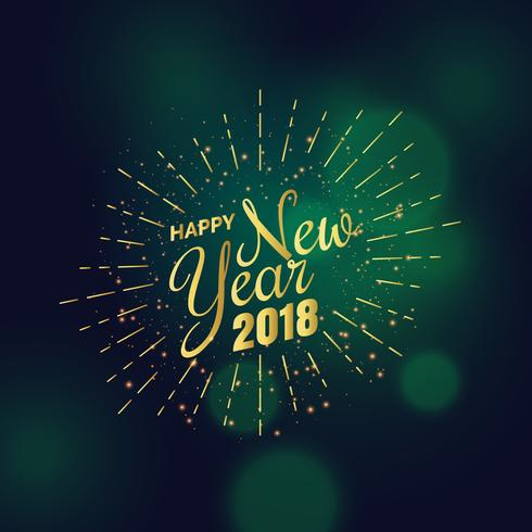golden 2018 new year greeting background design   Download Free     golden 2018 new year greeting background design