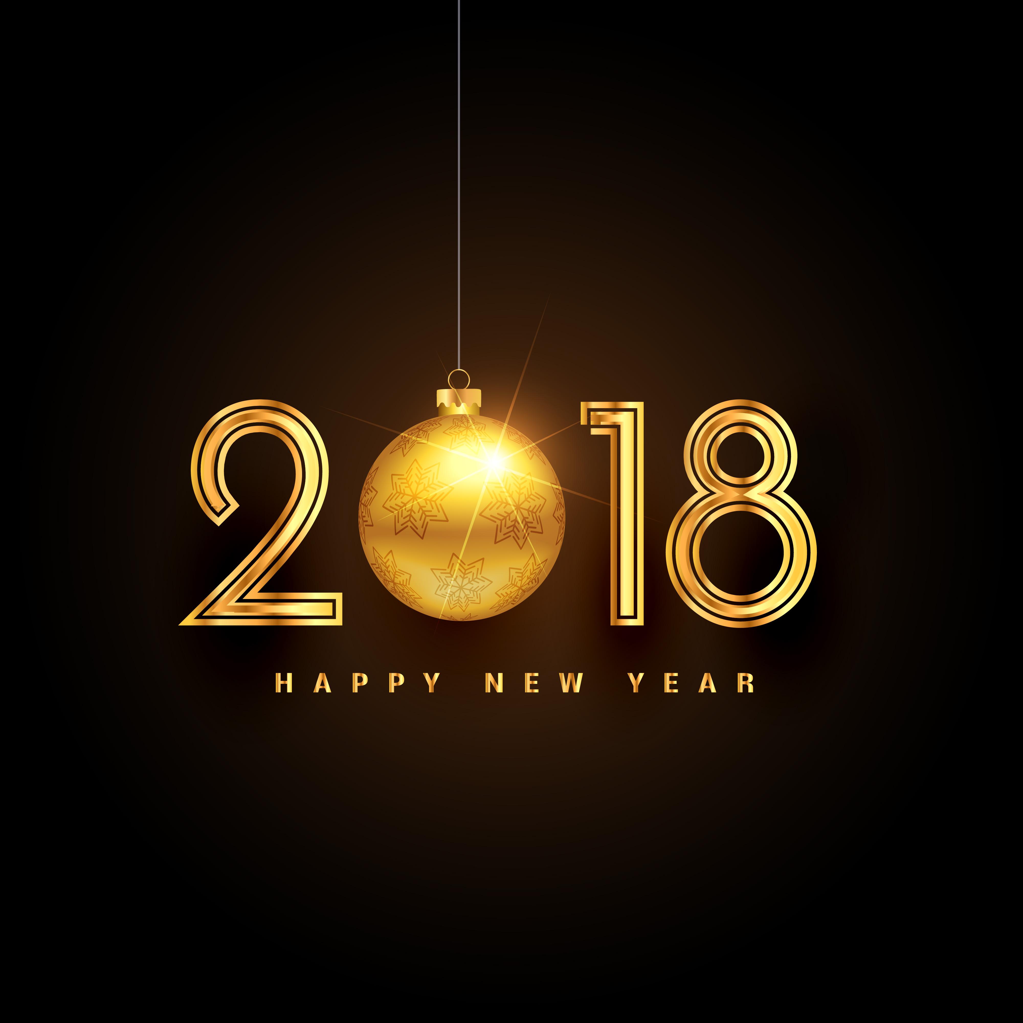 Golden Happy New Year Premium Background Design