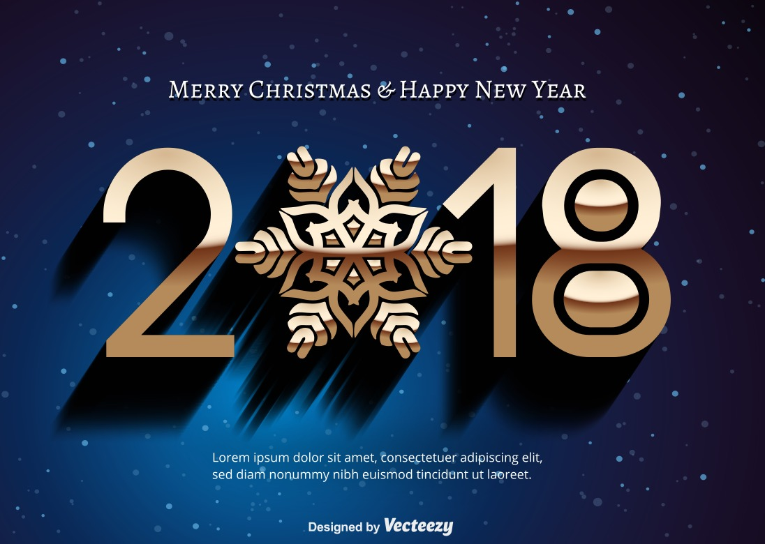 Happy New Year 2018 Free Vector Art    14782 Free Downloads