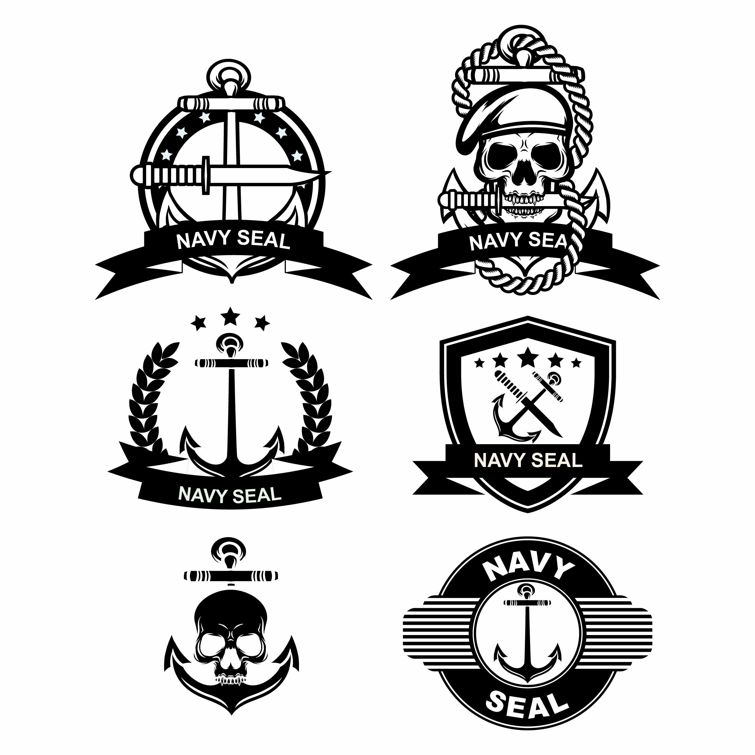 Navy Seal Badge Vectors