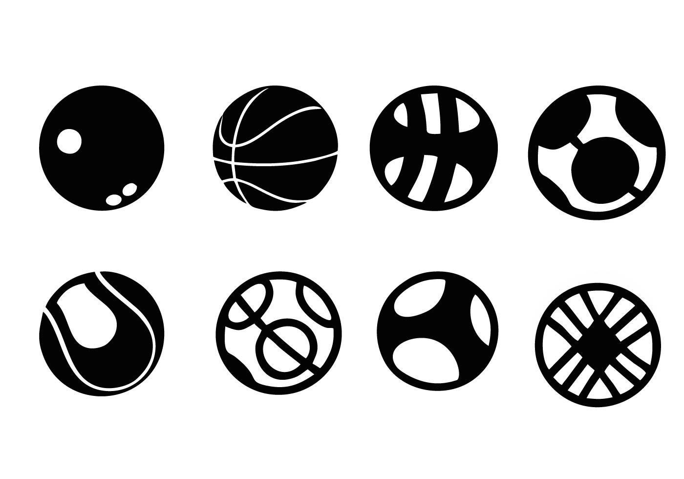 Kostenlose Sport Ball Icons Vector