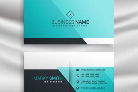 elegant business card design template with blue shapes   Download     elegant business card design template with blue shapes