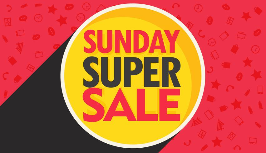 Sunday Super Sale Discount Banner Design For Your