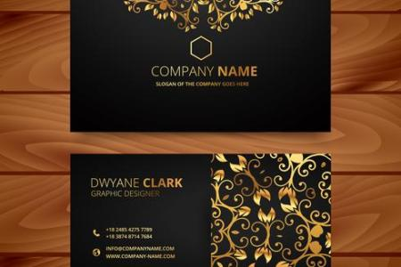 stylish golden premium luxury business card template design     stylish golden premium luxury business card template design