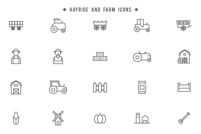 Farm Icons Free Vector Art