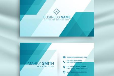 modern blue and white business card design template   Download Free     modern blue and white business card design template