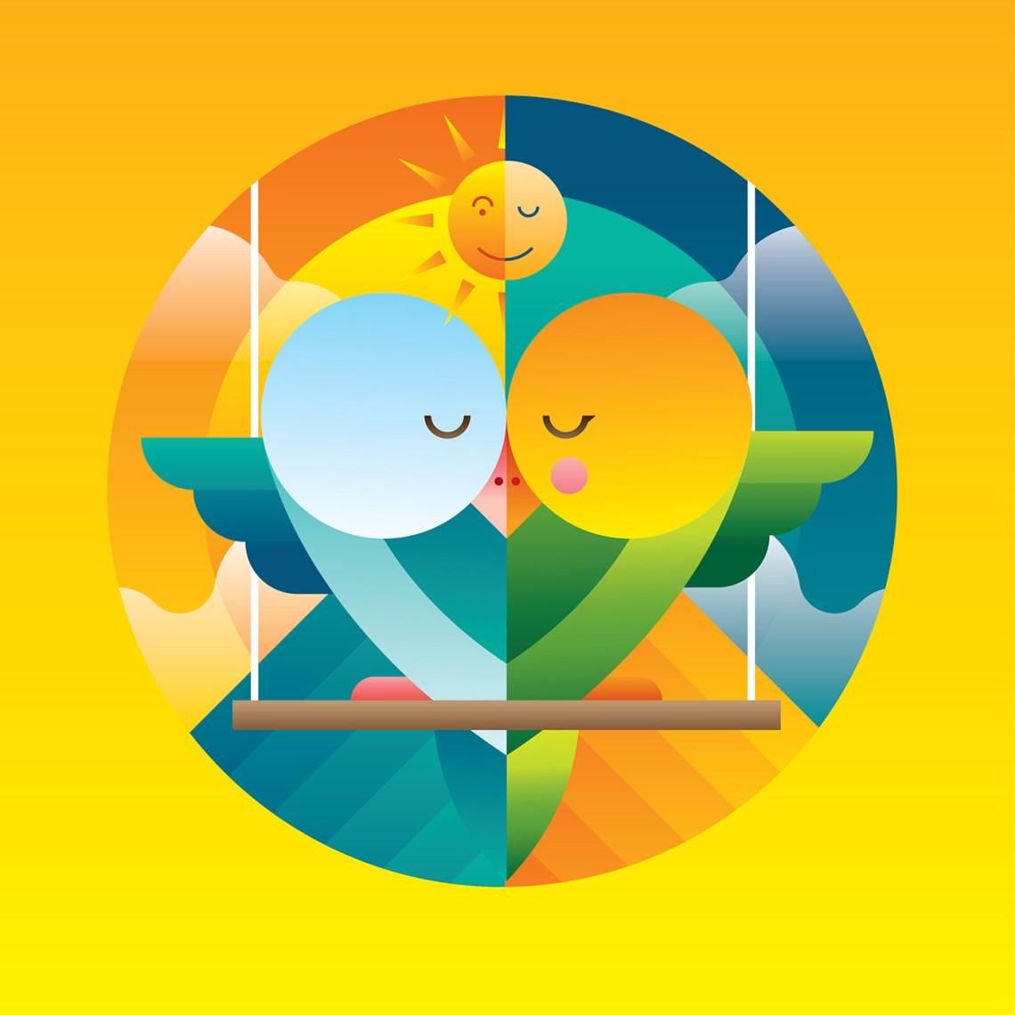 Download Love Bird Illustration Vector - Download Free Vectors ...