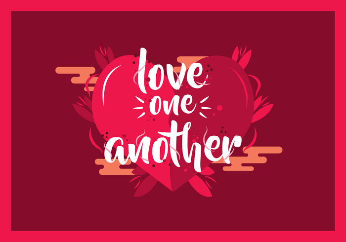 Download Love One Another Typography Vector - Download Free Vectors ...