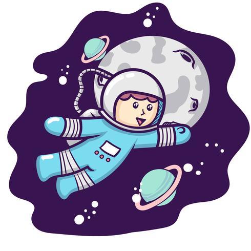 Cute Astronaut - Download Free Vectors, Clipart Graphics ...