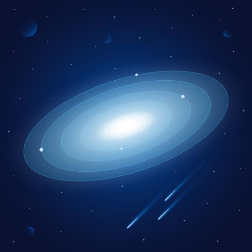 Space Background With Stars And Planets Illustration ...
