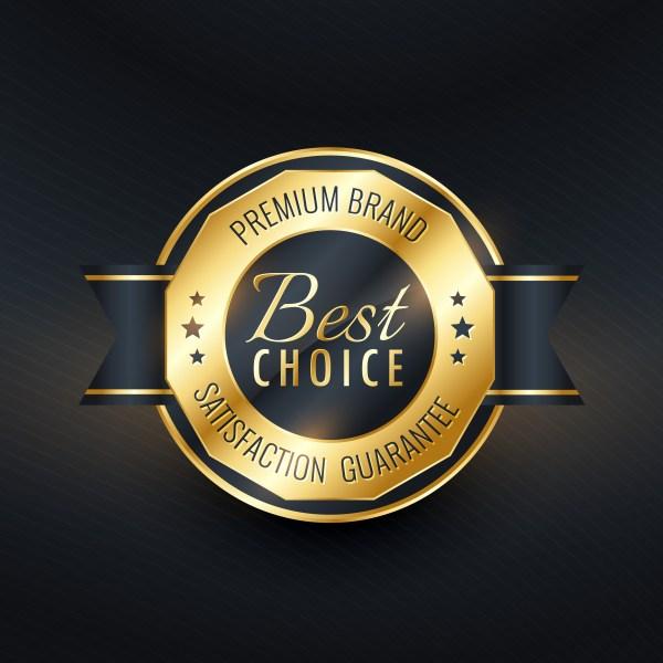 best choice golden label design vector - Download Free ...