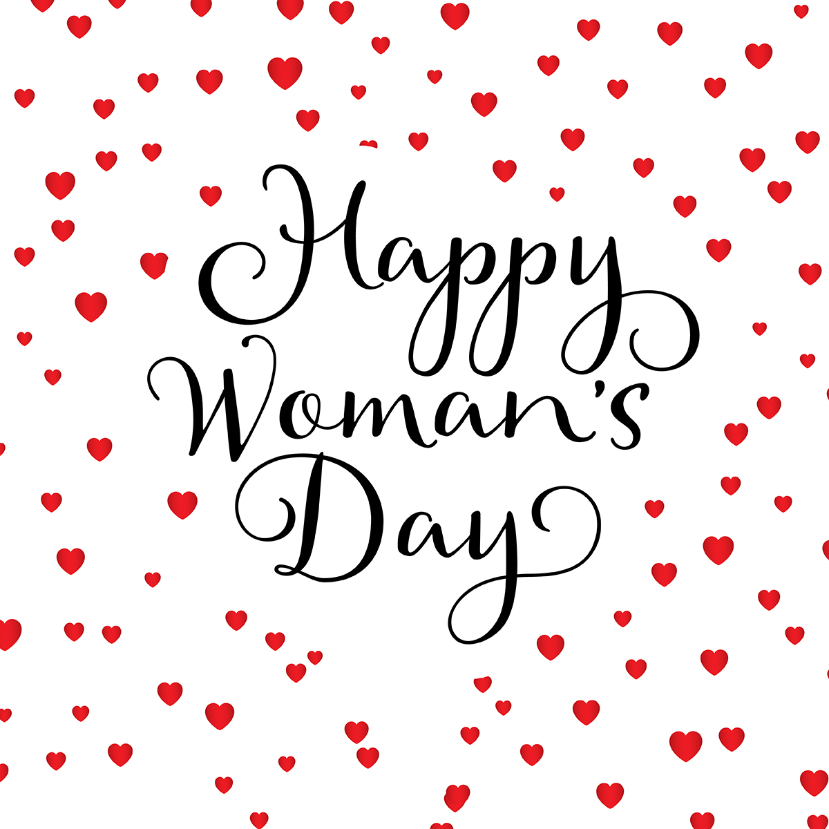 Happy Women S Day Hearts Background
