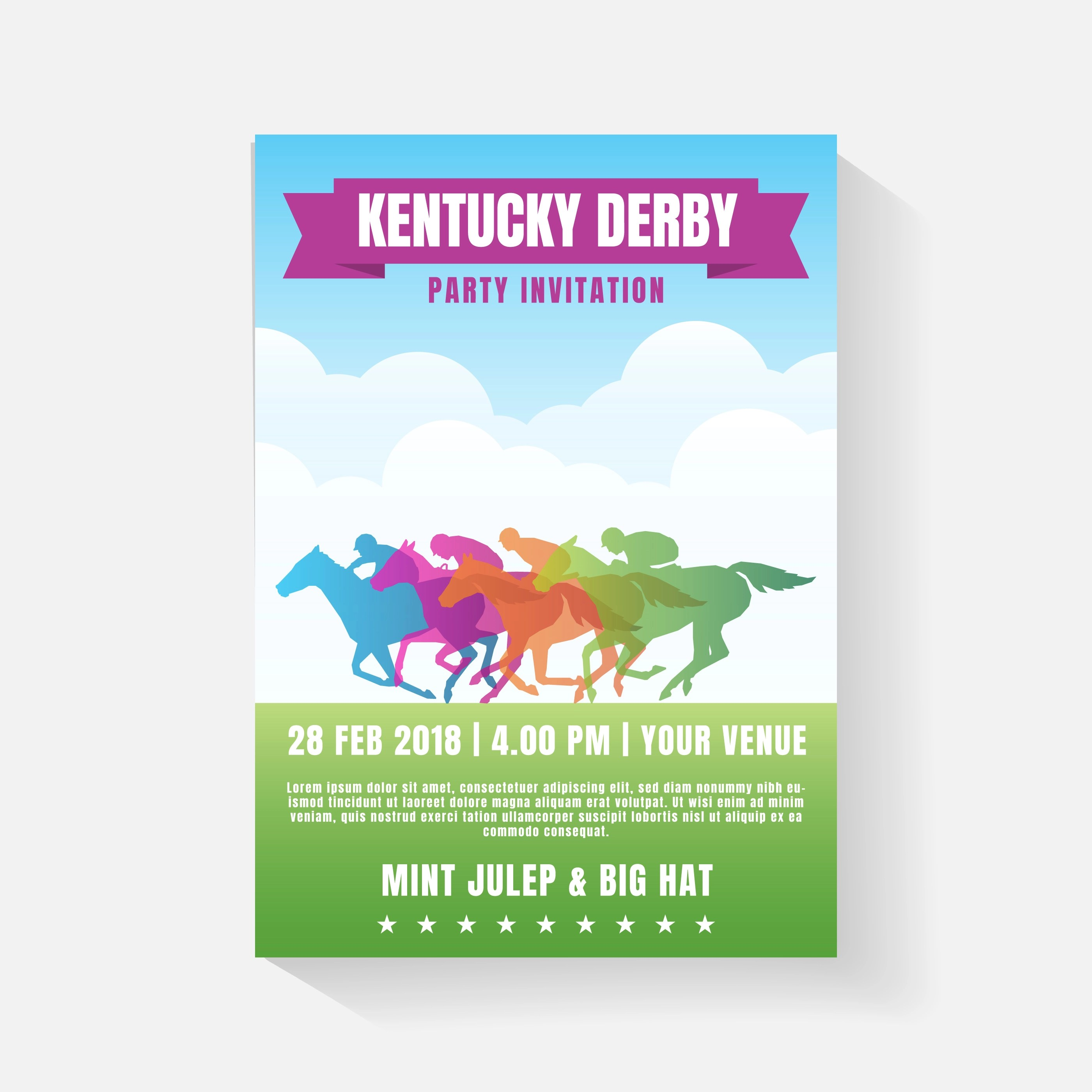 horse racing party invitation template
