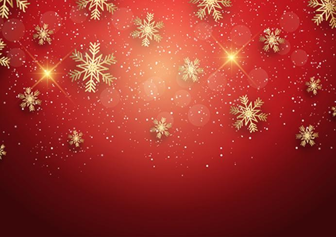 Christmas Background With Golden Snowflakes Download