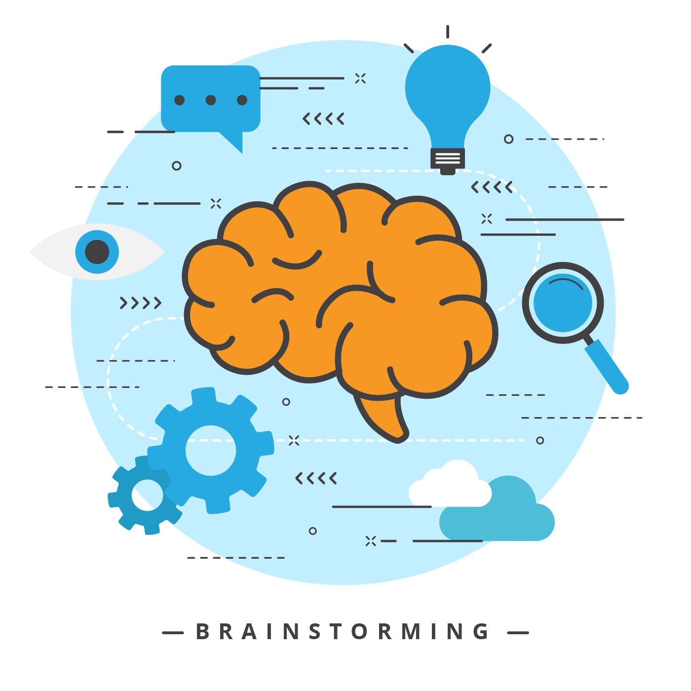 Brainstorming Vector Illustration