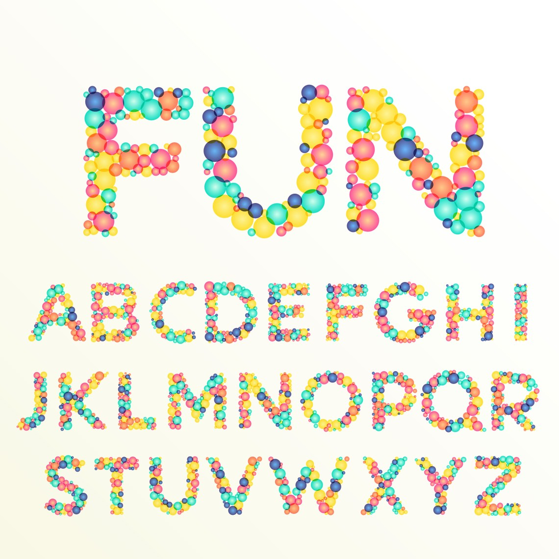 Download colorful font and alphabet letters, best for fun ...