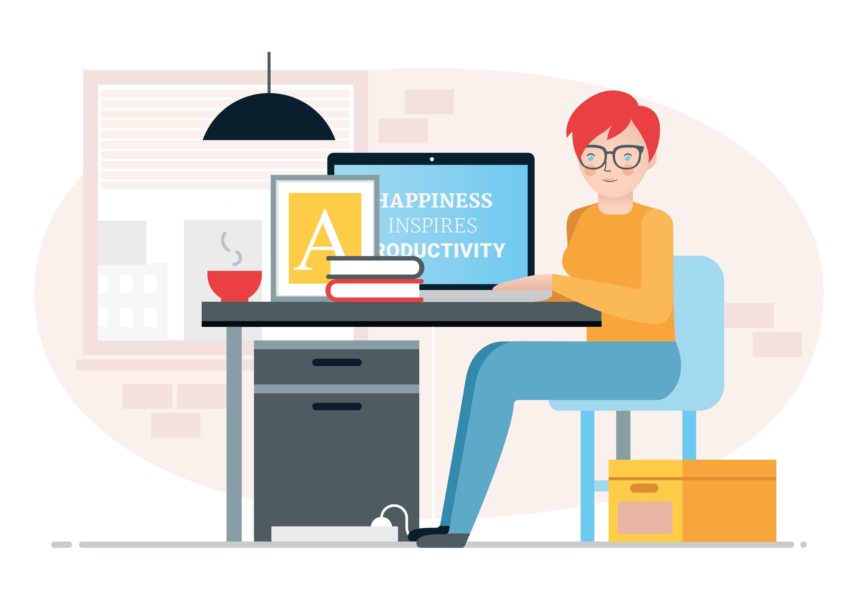 Vector Designer Work Station Illustration Download Free