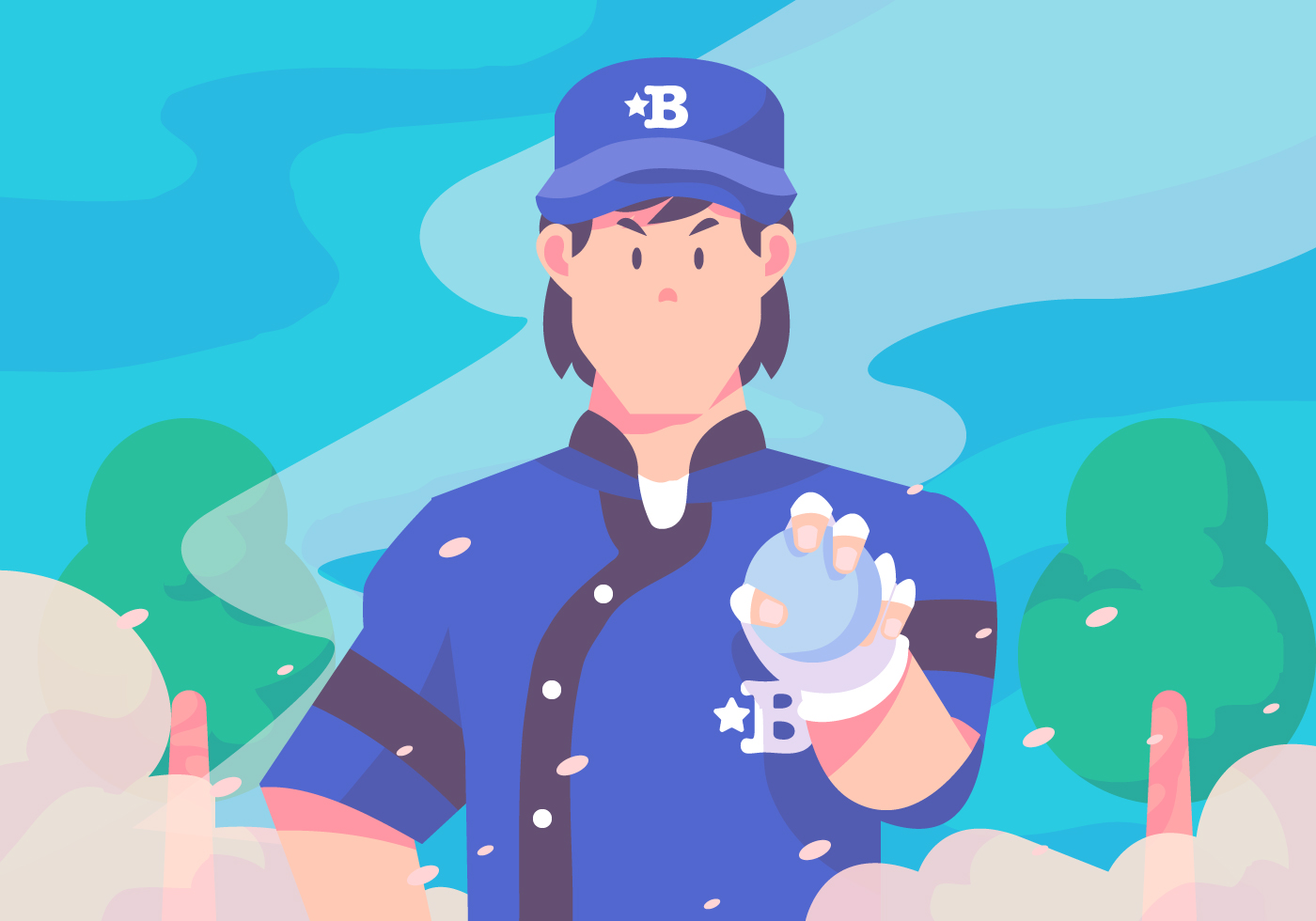 Pitcher Free Vector Art