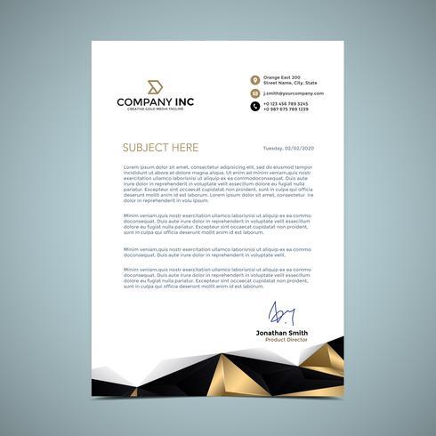 Golden Letterhead Design Download Free Vector Art Stock Graphics Amp Images