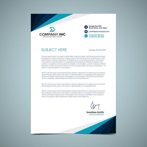 Blue Letterhead Design Download Free Vector Art Stock Graphics Amp Images