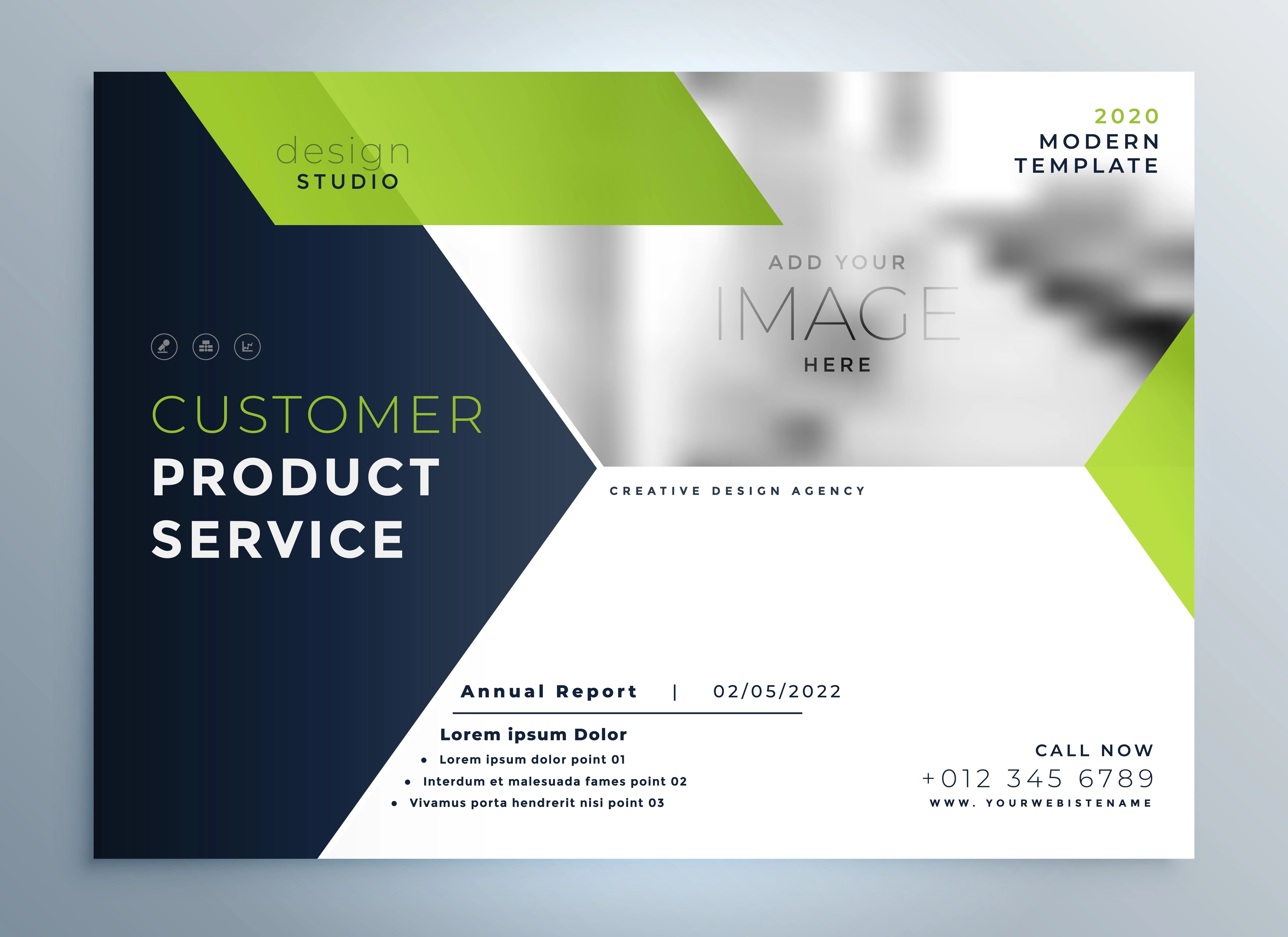 Creative Green Modern Brochure Flyer Template Presentation Download Free Vector Art Stock