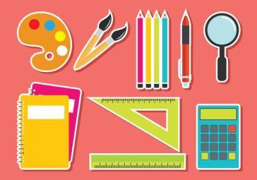 Conjunto de vetores de material escolar - Download Vetores Gratis ...