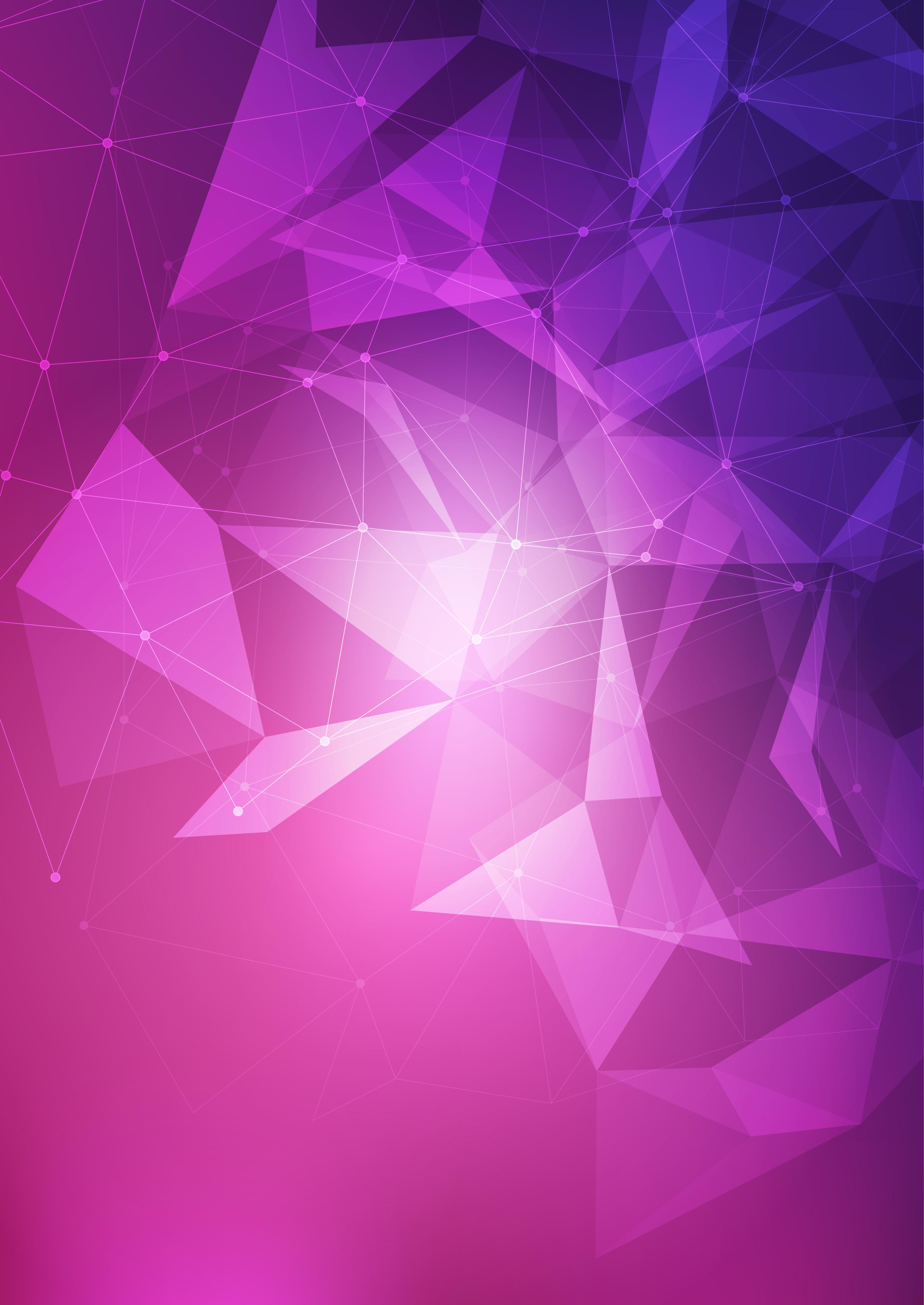 Geometric Abstract Art Purple