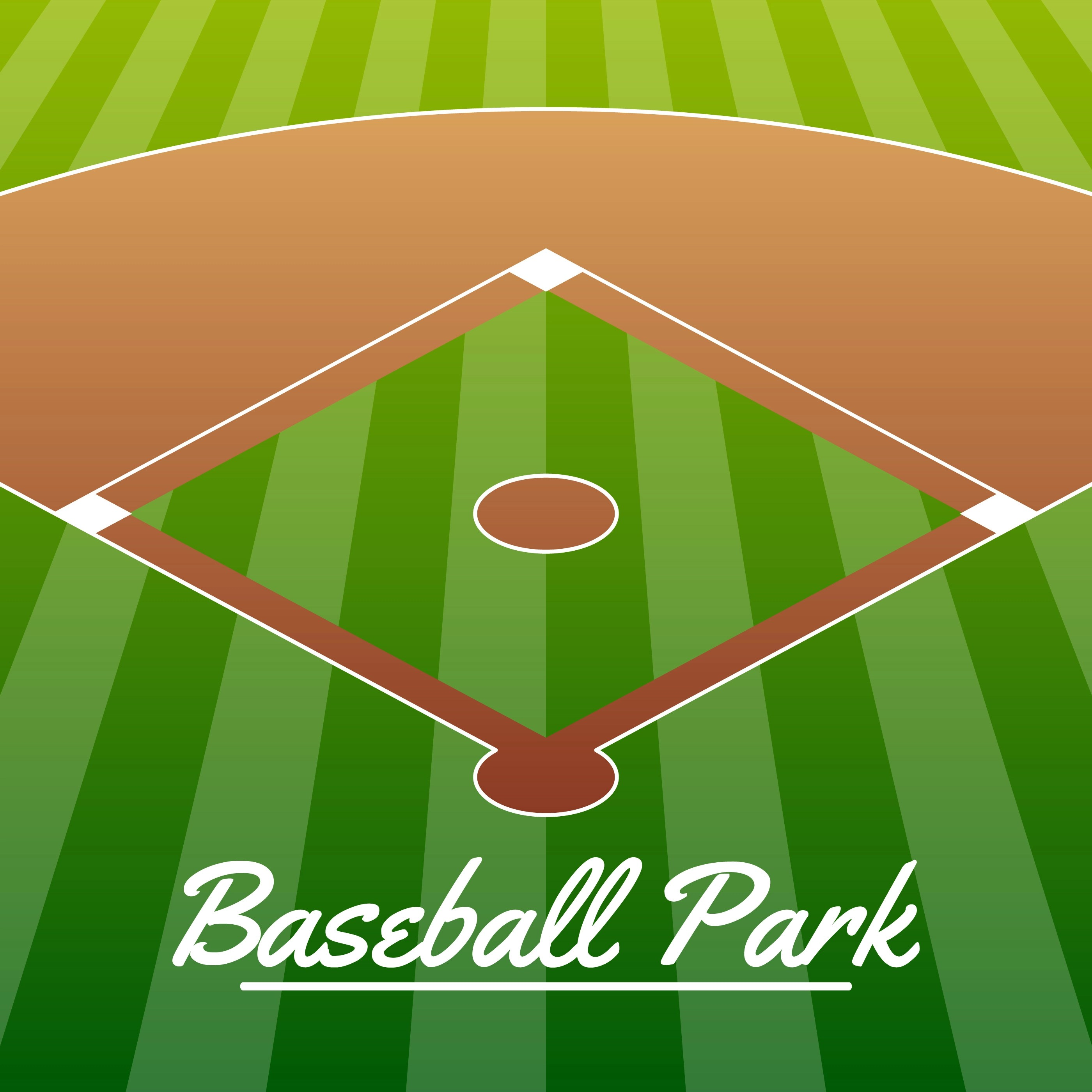Baseball Stadium Free Vector Art