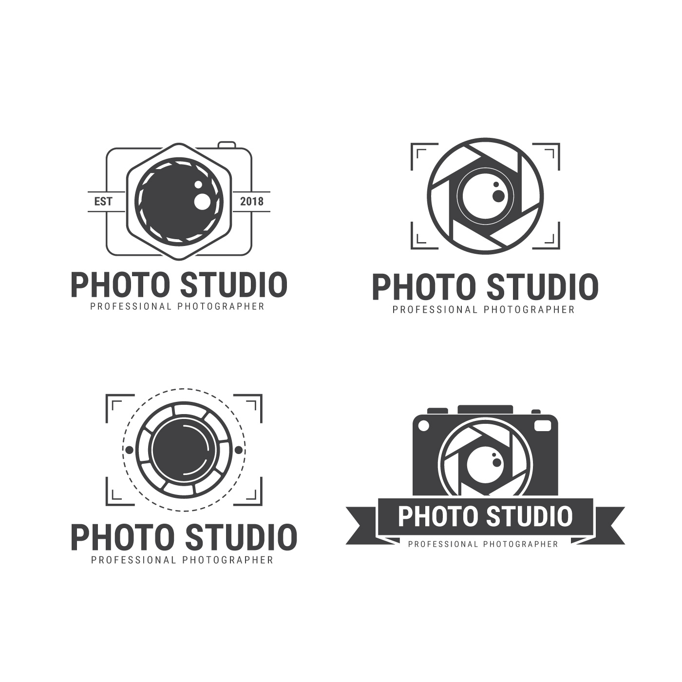 Fotografo Logo Vector Collection